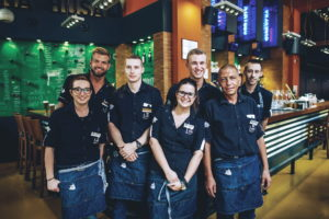 The staff who look after you (from the left: Tína, Milan, Michal, Klára, Honza, Petr and Mirek)